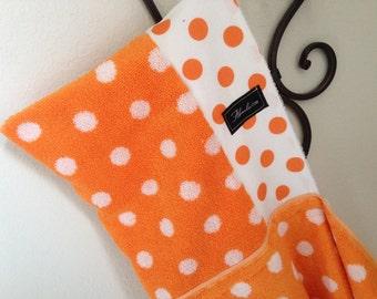 Orange Dot Hooded Bath Beach Pool Towel