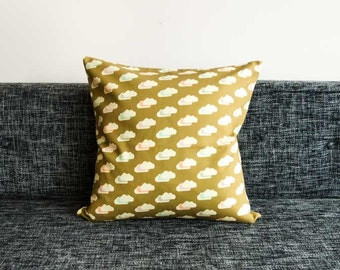 Playful, Modern Scandinavian Cushion Covers / Pillow Cases - Gold Cloud