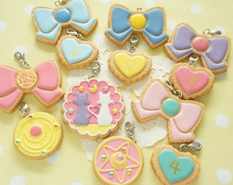 Limited Stock 12 pcs Sailor moon Pastry Cookie Charm AZ164 (((LAST/ no restock)))