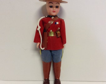 50s Vintage Canadian Mountie Mounty Doll
