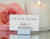 Place Card Holder +  Silver Place card holder - Wedding Place Card Holders- Silver place card holders-Set of 100