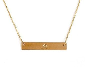 Ocean Wave Bar Necklace