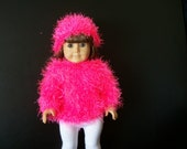 A sweater and hat for 18 inch dolls