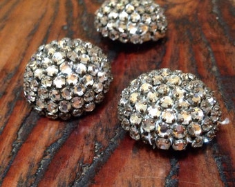 Vintage couture rhinestone buttons
