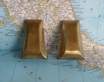 SALE! 2 vintage mod brass metal handles