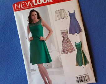 Uncut New Look Dress and Jacket Pattern S0537 - Misses' sizes 8, 10, 12, 14, 16, 18 (size A)
