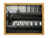 Wi-Fi Password - WiFi Printable -  Wi-fi Sign - Digital Art - Internet - Vintage