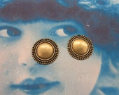 Brass Oxidized Plated 22mm Round Ornamental Stampings  213BOX x2
