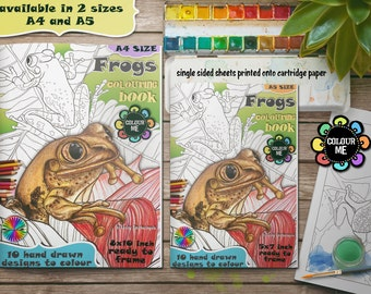 Frogs Colouring Book - A5 - Frogs Colouring Pages