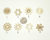 10 Wood Laser Cutout Flowers, Your Choice of 8 Styles