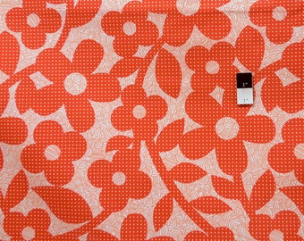 Erin McMorris OCEM01 Weekends Dots & Loops Red Cotton LAMINATE Fabric 1 Yd
