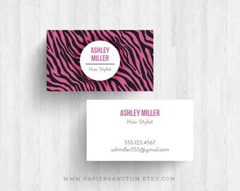 250 or 500 Custom Bold Zebra Print Business Cards Calling Cards