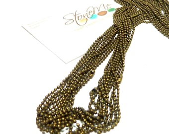 Chain Antiqued Bronze Plated 22 Inch Ball Chains 1.5 Diameter Necklace Beach Stone Jewelry Supplies Findings