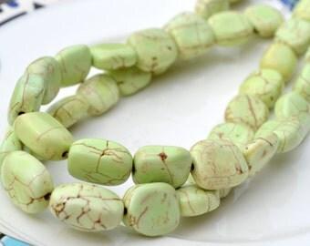 Lemon Chyrsoprase Large Nugget Beads  FULL STRAND