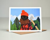 AC is a Lumberjack Greeting Card