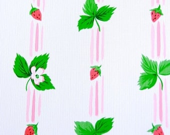 Vintage wallpaper jjosephson strawberries