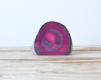 Pink Sliced Geode Desk Paperweight