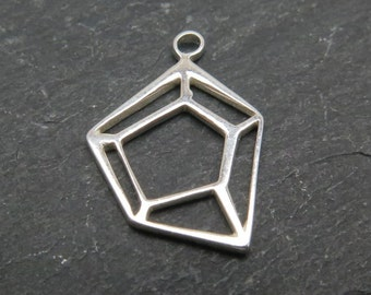 Sterling Silver Geometric Pendant 15mm (CG7640)