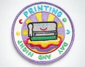 Printing Day And Night Iron On Patch