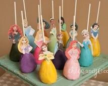 Disney Princess Cake Pop Topper Printables -- DIGITAL -- All 13 princesses (Also works as Cupcake Picks and Candy Apple Topper!)