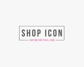 Custom Etsy shop icon - custom avatar custom profile picture graphic set 500 x 500 pixel banner graphic button winchesterlambourne digital