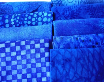 Blue Variety Fabric Fat Quarter 9 pack