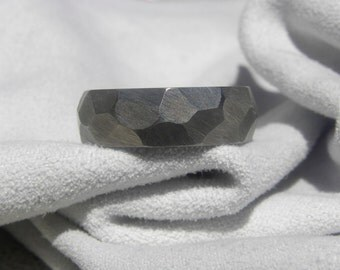 Titanium Ring with Ground Dome Profile Raw Finish