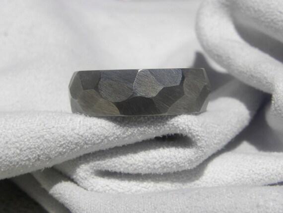 Titanium Ring with Ground Dome Profile Raw Finish