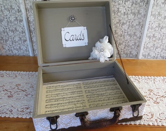 OOAK Wooden Wedding Card Holder