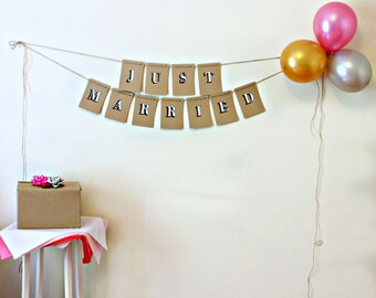 Bunting  //  Just Married Bunting  //  Indoor Bunting  //  Rustic  //  Wedding Bunting  //  Just Married