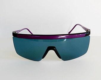 vintage sunglasses / Vintage 80's Guy Laroche Oversize Blades Sunglasses
