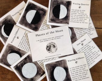 Phases of the Moon Cards - Digital - Printable PDF