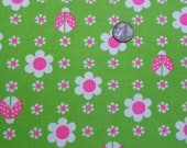 Vintage Ladybug Cotton Fabric Material 2 Yards 45 Inches Wide