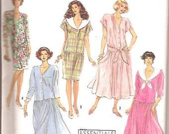 Simplicity 7105 Vintage Dress Sewing Pattern Plus Size 16 18 20 22 24 UNCUT