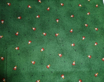 Halloween Quilt fabric with candy corn