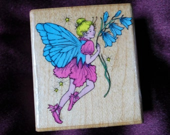 Flower Fairy Fairie Rubber Stamp