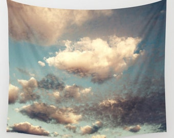 Cloud Tapestry, Cloudy Sky Tapestry, Clouds Large Wall Decor, Photo Tapestry, Modern Decor, Wall Hanging, Nature Tapestries, Cloud Formation