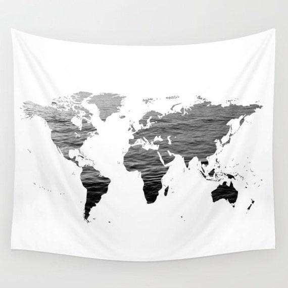 Tapeten von Meer Textur World Map Karte große Gr. Wandkunst