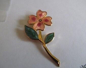 cloisonne peach flower