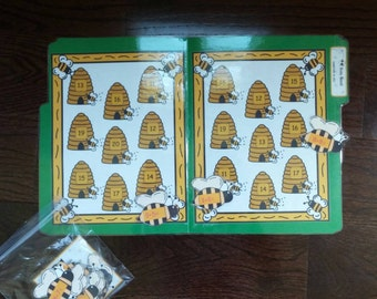 File Folder Game BUSY BEES Math Center Teacher Resource Ready to Play