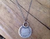 End of Summer Sale Coffee Pray Repeat Stamped Necklace