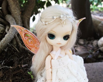 OOAK Elfic Tiara Jewellery for dolls 12 COLOURS -  Mini Pullip, Dal, Monster High, Puki Fee, MSD