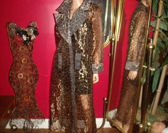 Vintage 80s Flapper Opera  Jacket-Coat  Evening Holiday Size M