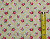 Annette Rose Carnation Flowers in Yellow BY YARDS Michael Miller Cotton Fabric
