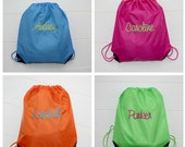 Personalized Cinch Sack Backpack and Tote Bags Back To School Accessory Bag Christmas Gift