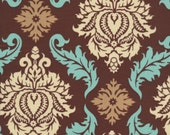 Joel Dewberry Fabric by the Yard - Aviary 2 - Damask in Bark - Quilter's Cotton