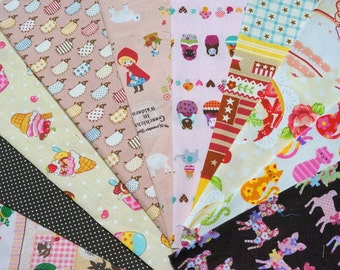 Value set fabric scrap  total of 10 pieces