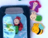 Quiet book Bug and insect jar activity add on page play set educational game busy bags quiet book #QB24