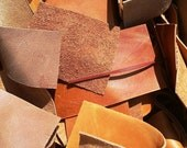 Scrap Leather --100% Cowhide Leather upholstery Pieces and Scraps - Five (5) pound Box