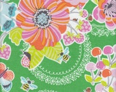 Blend Fabrics Field Day Cherries Floral in Green - Half Yard